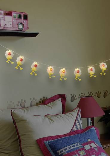 LED-es beltéri fényfüzér, Napraforgók, 10 LED, melegfehér, 635 cm, Polarlite LDC-30-003