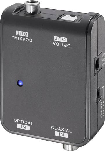 Toslink/Koax digitális audio konverter, bidirekcionális, SpeaKa