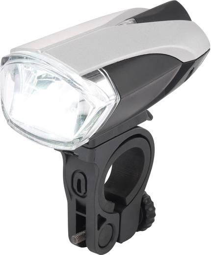 LED-es első kerékpár lámpa, elemes, ezüst/fekete, Basetech 9011C6 Mini Kmark ET-3170