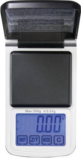 Precíziós zsebmérleg, ékszermérleg, gramm mérleg Max.:200g/0.01g felbontás Voltcraft PS-200HTP