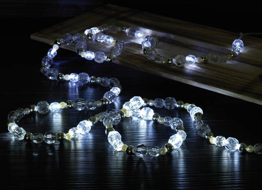 LED-es beltéri gyöngy fényfüzér, elemes, 20 LED, 280 cm, Polarlite LBA-20-002