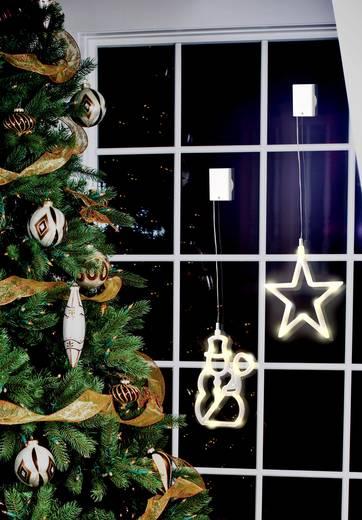 LED-es ablakdekorációm hóember, LED Polarlite LBA-50-009 Átlátszó