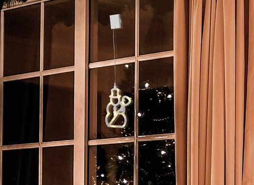 LED-es ablakdekoráció, hóember, elemes, Polarlite LBA-50-009