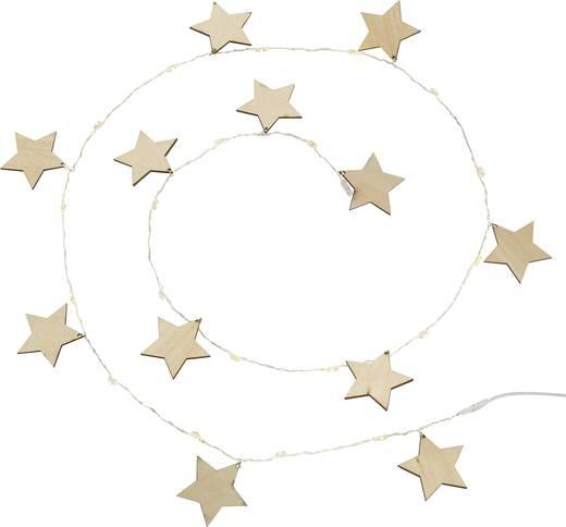 LED-es beltéri fényfüzér, csillagok, 1,5m, melegfehér, Polarlite LBA-04-007