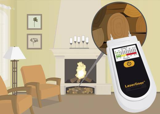 Tüzifa nedvességmérő, anyagnedvesség mérő Laserliner WoodTester