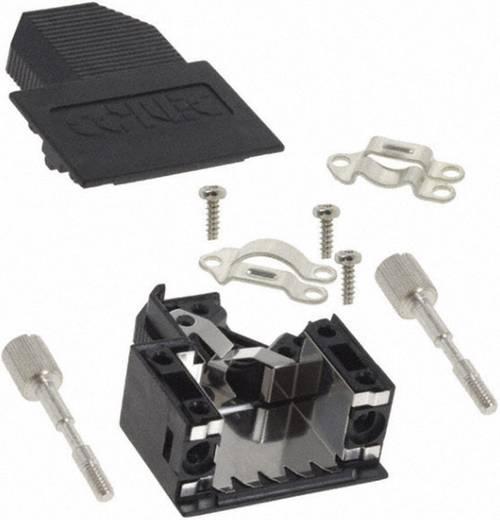 D-SUB doboz pólusszám: 15 műanyag 45 ° Fekete Conec 165X00789XE 1 db