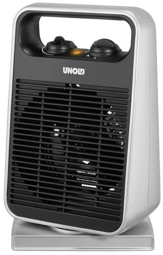 Elektromos fűtőventilátor, 1000/2000W, fekete/ezüst, Unold 86116