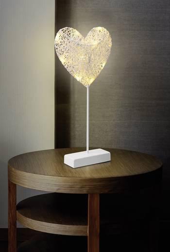 LED-es ablakdísz, szív, fehér, Polarlite 1233510