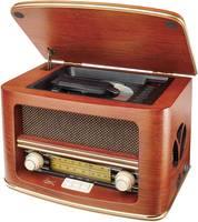 Asztali retro rádió, nosztalgia rádió, CD lejátszóval, fa burkolatú Dual NR 1 CD 73134 (73134) Dual