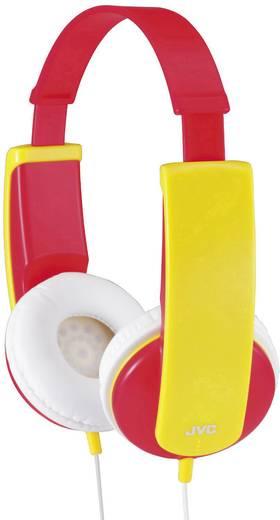 Fejhallgató gyermekeknek, hangerőszabályozóval, piros/sárga, JVC HA-KD5-VE