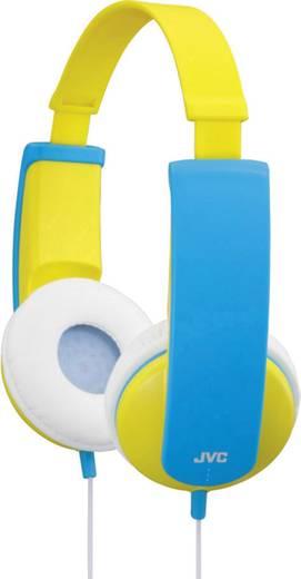 Fejhallgató gyermekeknek, hangerőszabályozóval, sárga/kék, JVC HA-KD5-VE
