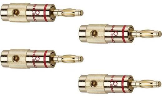 Hangszóró csatlakozó dugó, egyenes, arany, Oehlbach 3001 4 db
