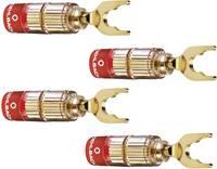 Hangszóró csatlakozó dugó, egyenes, arany, Oehlbach 3023 4 db (3023) Oehlbach