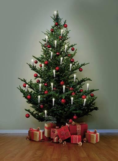 Beltéri karácsonyfa fényfüzér, gyertya, 17m, 16 LED, melegfehér, Polarlite LCA-01-003