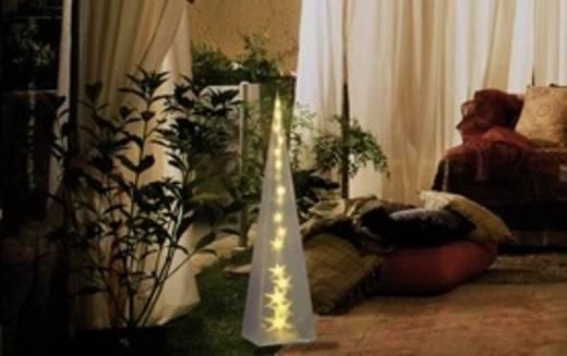 LED-es dekoráció, piramis, 230V, melegfehér, Polarlite PDE-04-002