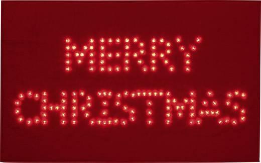 LED-es karácsonyi lábtörlő, Merry Christmas felirattal, piros, Polarlite PDE-05-001
