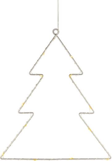 LED-es ablakdekoráció, fenyőfa, elemes, Polarlite LBA-50-015