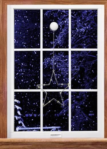 LED-es ablakdekoráció, csillag, elemes, Polarlite LBA-50-016