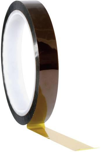 Hőálló ragasztószalag, polyimide 33 m x 12 mm borostyán színű TOOLCRAFT 911XB1233C