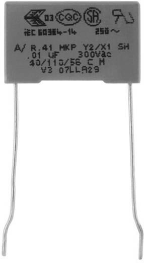 MKP zavarszűrő kondenzátor, radiális 10 nF 300 V 20 % 15 mm, 18 x 5 x 11 Kemet R413I21000000M