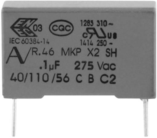 MKP zavarszűrő kondenzátor, radiális 100 nF 275 V 20 % 15 mm, 18 x 5 x 11 Kemet R46KI310000M1M
