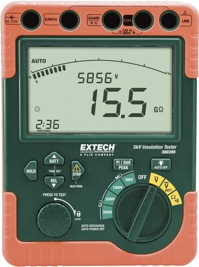 Szigetelési ellenállásmérő 500 V/1/2.5/5 kV CAT IV 600 V Extech 380396