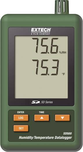 Hőmérséklet és páratartalom, légnedvesség mérés adatgyűjtő, Extech SD 500