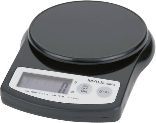 Digitális asztali mérleg, levélmérleg fekete színű 2kg/1g Maul MAULalpha 2000G