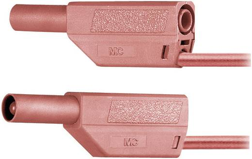 Mérőzsinór, mérővezeték 4 mm-es banándugóval, 2,5 mm² PVC 25 cm, sárga, MultiContact SLK425-E