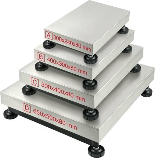 Platform mérleg Kern IFB 300K50D Mérési tartomány (max.) 300 kg Leolvashatóság 100 g Hálózatról üzemeltetett Fehér