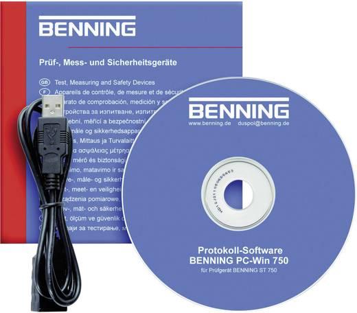 Szoftver a Benning ST 750 VDE szigetelési ellenállás mérő műszerhez 047001