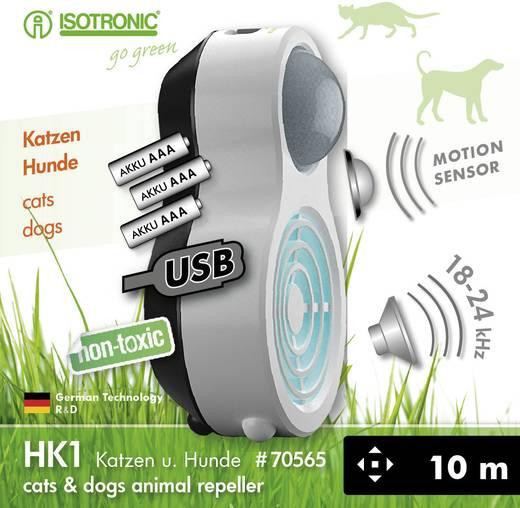 Akkumulátoros ultrahangos kutya- és macskariasztó, Isotronic HK1