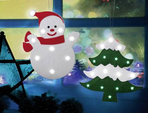 LED-es karácsonyi ablakdísz, fenyőfa, Polarlite LDE-02-003