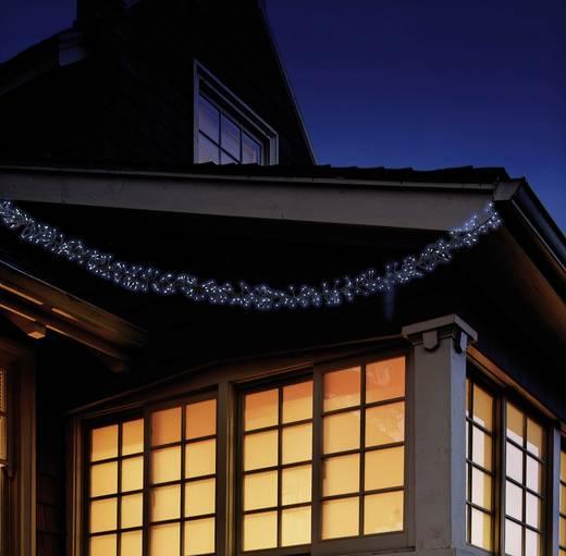 LED-es kültéri mikro fényfüzér, hálózati, 480 LED, hidegfehér, 850cm, Polarlite PLC-06-003