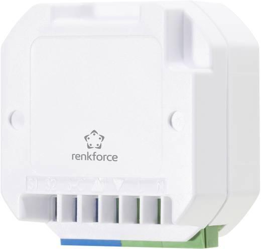 Vezeték nélküli, 1 csatornás beépíthető redőnyvezérlő, max. 500W, max. 150m, fehér, renkforce RS2W
