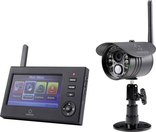 Vezeték nélküli biztonsági kamerarendszer, 2,4 GHz-es kültéri infrakamerával LCD monitorral Renkforce 1243795