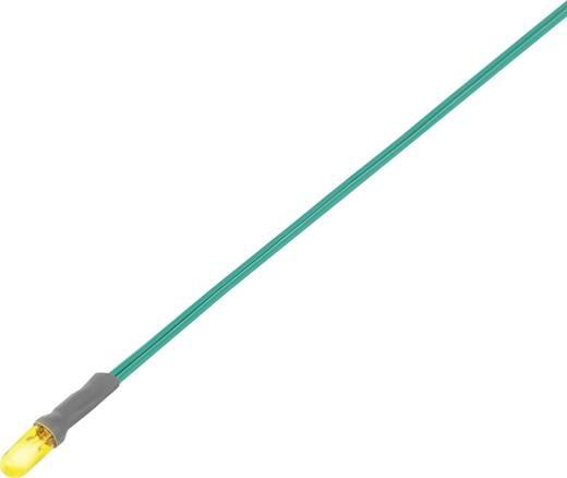 Miniatűr izzólámpa, csatlakozó kábellel 12 V 0.72 W, sárga,