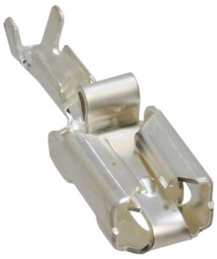 Flachsteckhülse Vibrationssicher Steckbreite: 6.35 mm Steckdicke: 0.81 mm 180 ° Unisoliert Silber TE Connectivity 928901