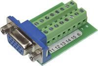 VGA aljzat, beépíthető, függőleges, 15 pól., Tru Components VGA15F-16TB-2 TRU COMPONENTS