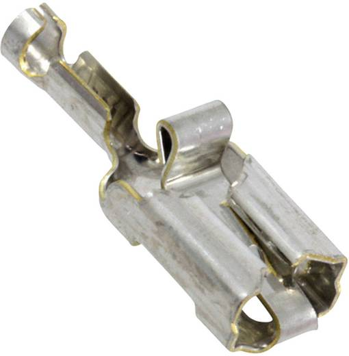 Flachsteckhülse Vibrationssicher Steckbreite: 6.35 mm Steckdicke: 0.81 mm 180 ° Unisoliert Silber TE Connectivity 341001