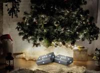 Beltéri LED-es fényfüzér, hópehely motívumos, 20 LED, elemes, 1,5 m, hidegfehér, Polarlite LBA-03-010 (LBA-03-010) Polarlite
