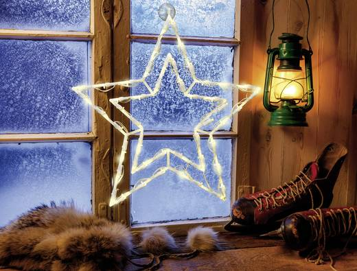 LED-es karácsonyi ablakdísz, csillag, Polarlite LDE-02-008