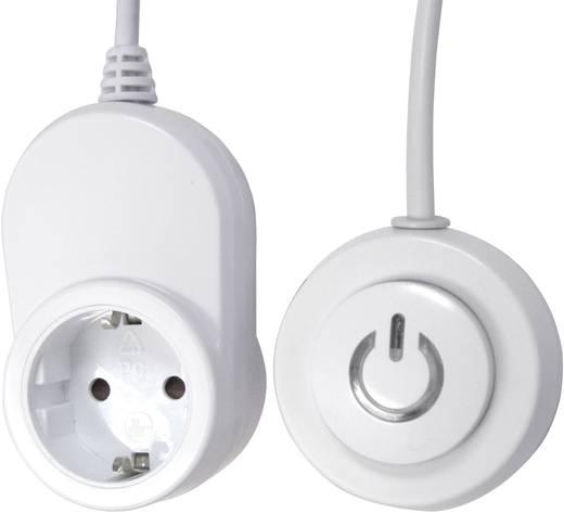 Köztes dugalj kivezetett kapcsolóval, 2 pólusú, fehér, GAO EMP500A