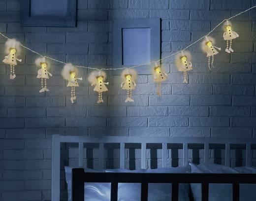Elemes beltéri fényfüzér, angyalkák, 1,85m 10 LED, melegfehér, Polarlite LBA-03-009