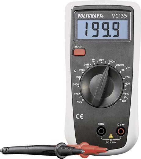Kalibrált multiméter, mérőműszer Voltcraft VC135(K) CAT III 600V