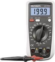 Digitális multiméter, mérőműszer hőmérséklet mérés zseblámpa funkció és háttérvilágítás 600V AC/DC 10A/DC Voltcraft VC155 VOLTCRAFT