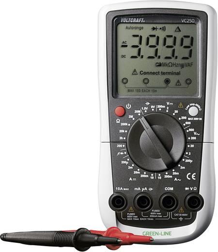 ISO kalibrált digitális multiméter, mérőműszer 600V AC/DC 10A AC/DC Voltcraft VC250 (ISO)