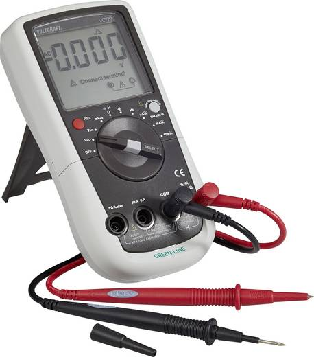 ISO kalibrált digitális multiméter, mérőműszer 600V AC/DC 10A AC/DC Voltcraft VC270 GREEN-LINE (ISO)