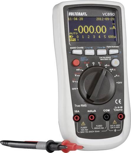 ISO kalibrált digitális multiméter, True RMS, kitöltési tényező mérési funkcióval, OLED, Voltcraft VC890 OLED (ISO)