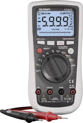 ISO kalibrált digitális multiméter, kitöltési tényező mérési funkcióval 750V/AC 1000V/DC 10A AC/DC VOLTCRAFT VC830 (ISO)